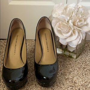 Chinese Laundry Black patent pumps